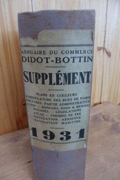 ANNUAIRE DU COMMERCE DIDOT BOTTIN SUPPLEMENT 1931.