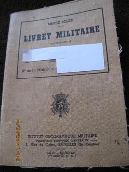 LIVRET MILITAIRE BELGE 1953