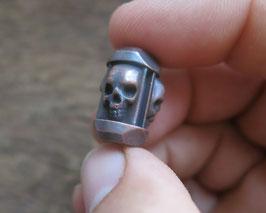 "Copper Big Trinity Bead ,,Skulls"""