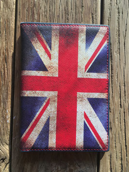 Vintage paspoorthouder Britse vlag deluxe