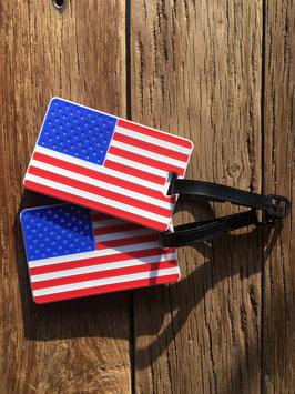 Kofferlabel Amerikaanse vlag USA 9 x 5,5 cm