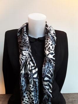 12. Tijgerprint grijs zwart met leuk grijs bandje