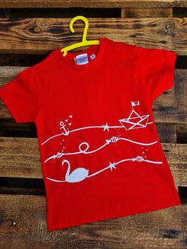 Trödel Design Kids Shirt  Rot