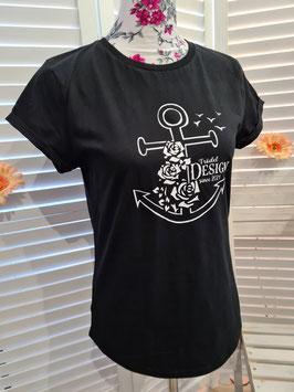 Damen-Shirt schwarz & Anker