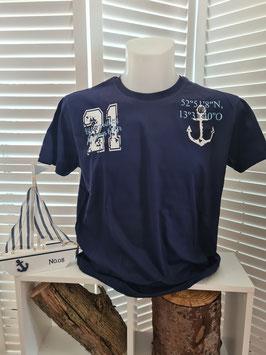 Shirt Men Navyblau