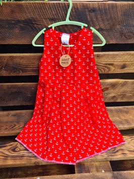 Kinderkleid Anker rot