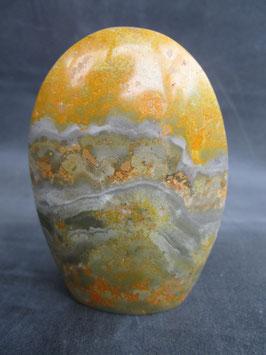 Bumblebee jaspis / Eclipse stone vrije vorm staand