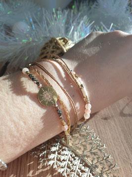 Bracelet multi-rangs Emma Doré Rose