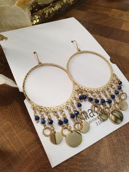 Boucles d'oreilles Isis Lapis Lazuli
