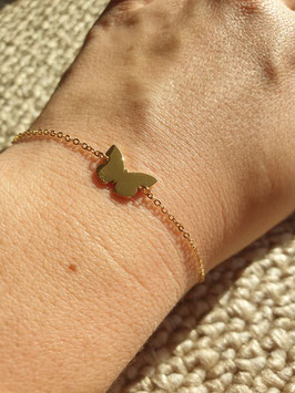 Bracelet Papillon Doré
