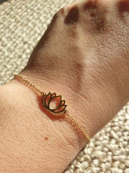 Bracelet Lotus Doré