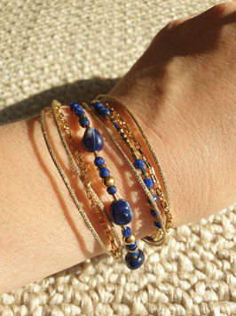 Bracelet multi-rangs Gisèle Lapis Lazuli