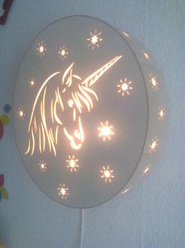 Einhorn-Lampe für die Wand 41cm