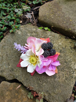 Hortensienblüten,Lavendel und Beeren Haarblüte