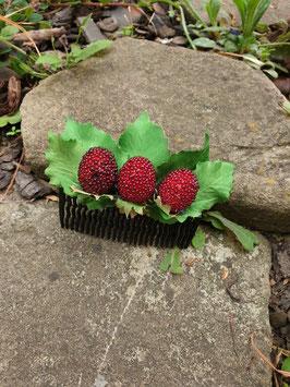 Erdbeeren Haarkamm