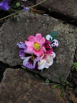 Haarblüten mit Clip, Stiefmütterchen,Hortensie etc