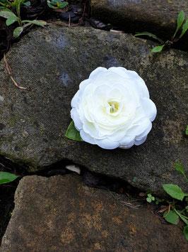 Rosenhaarclip weiß