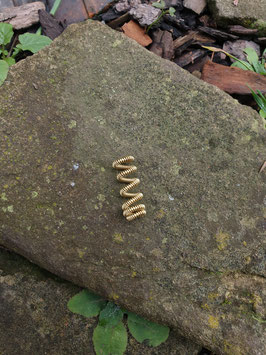Messing Spiraldreadperle / Haarperle