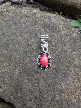 Dreadperle / Haarperle  rotes Ornament