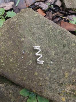 Silberfarbene Spiraldreadperle / Haarperle