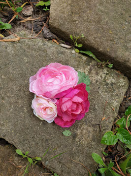 Haarschmuck Rosenensemble