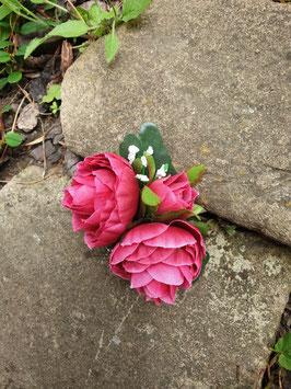 Rosen 3erBlüte dunkles pink