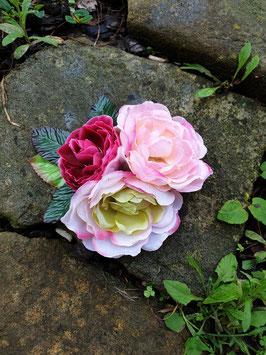Große Rosenhaarblüte 3er