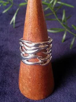 Breiter Ring aus 925 Sterling Silber, R 013