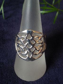 Ring Keltischer Knoten aus 925 Sterling Silber, R 011