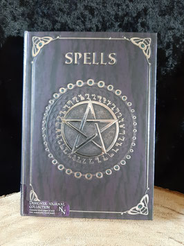Embrossed Spell Book.