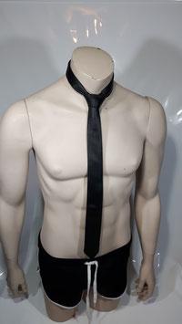 Leder Krawatte schwarz