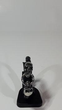 """Edelstahl / Leder Armband """"Skull"""""""