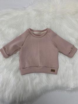 Waffelsweater rosé