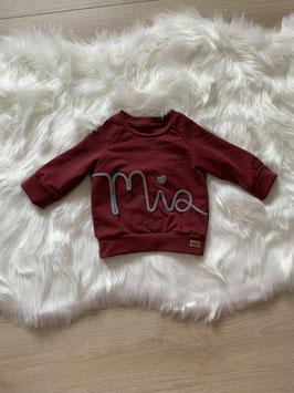 Namenssweater bordeaux