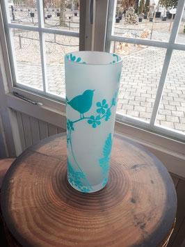 blaue Frühlings Vase