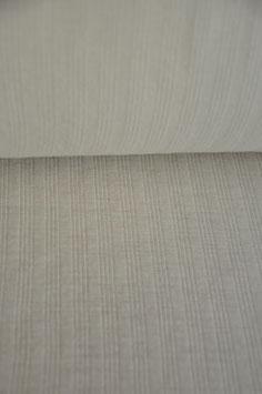 0,5 m -Edler Wolljersey - Weiß gerippt