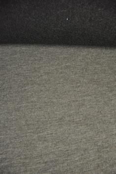 Walkloden Beige/dkl. Grau Doubleface reine Wolle - Made in Tirol