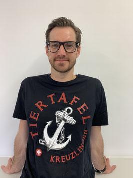 """T-Shirt mit Tiertafel-Logo und """"Ich bin ein Anker""""-Statement"""
