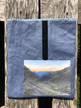 Gereina Ebene | beschichteter Leinenstoff Blau