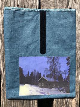 Kotta in finnisch Lappland | beschichteter Leinenstoff Petrol