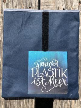 Weniger Plastik ist Meer | Dry Oilskin Jeansblau