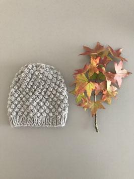Mütze BARBLA kurz hellgrau