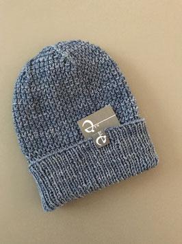Mütze NICOLÀ mit Umschlag jeans