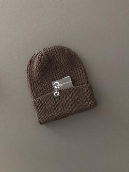 Mütze NICOLÀ mit Umschlag braun