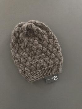 Mütze Stina lang beige-grau