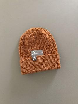 Mütze NICOLÀ mit Umschlag rost