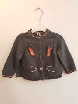 Gilet gris lapin ORCHESTRA