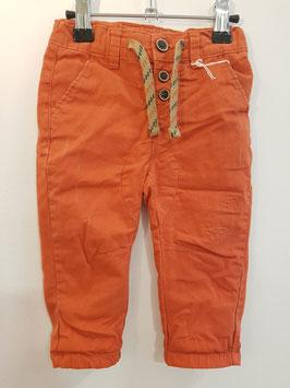 Pantalon toile orange TAO