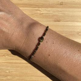 Bracelet doré Obsidienne dorée 2mm, REF: BD66-03