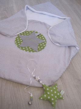 0a/ Pucksack incl Name und passender Babyschalenanhänger